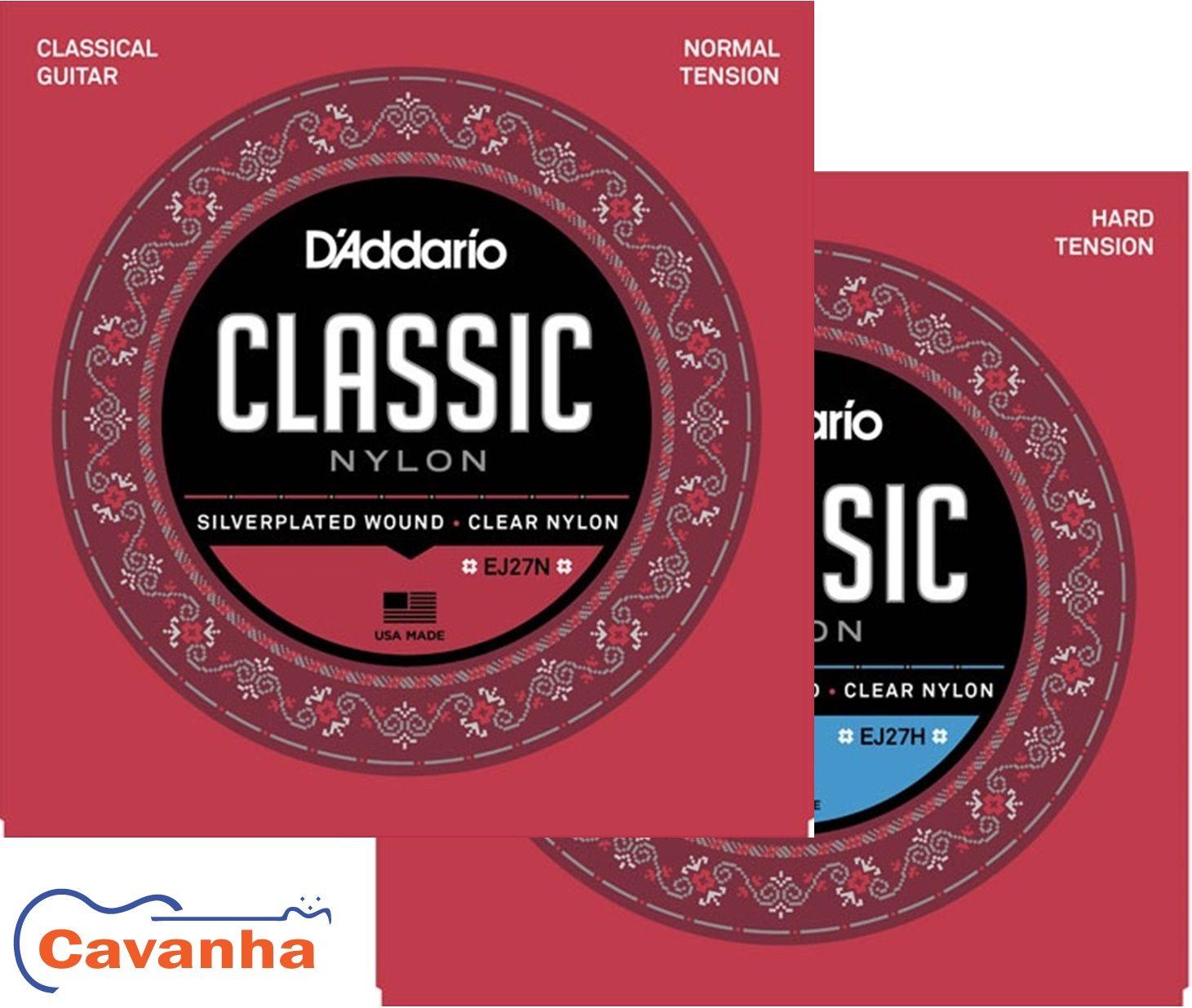 Encordoamento Daddario Nylon Student Classics Ej27 para violão  - Cavanha Acessorios Musicais