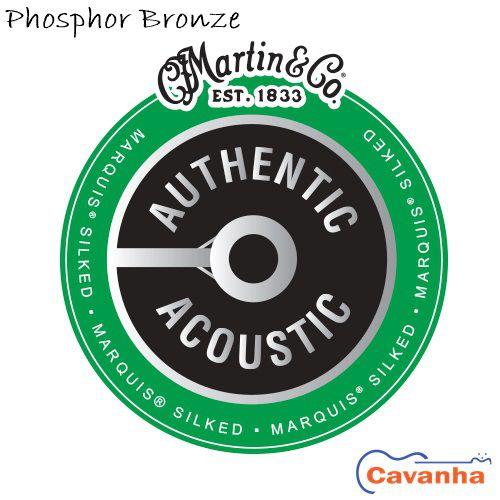 Encordoamento de violão Martin Authentic Marquis Silked Phosphor Bronze  - Cavanha Acessorios Musicais