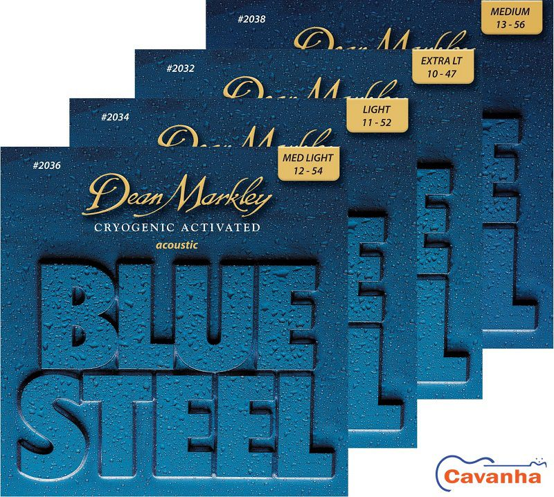 Encordoamento violão aço Dean Markley Blue Steel  - Cavanha Acessorios Musicais