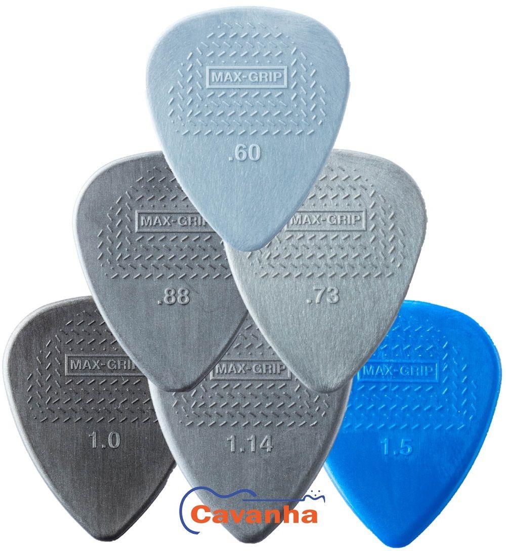 Palheta Dunlop Max-Grip Standard  - Cavanha Acessorios Musicais