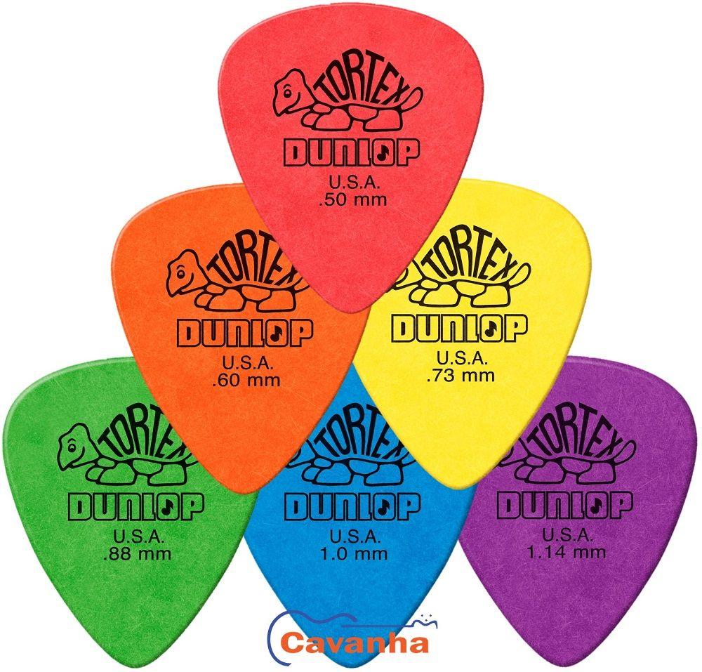 Palheta Dunlop Tortex Standard  - Cavanha Acessorios Musicais