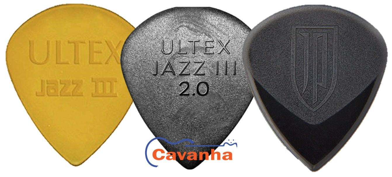 Palheta Dunlop Ultex Jazz III  - Cavanha Acessorios Musicais