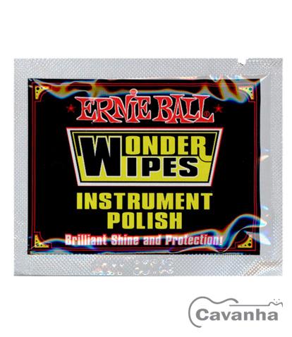 Polidor de instrumentos Ernie Ball Wonder Wipes Instrument Polish (Modelo P04278)  - Cavanha Acessorios Musicais