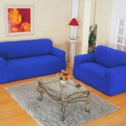 Capa Sofá Malha Dupla 2 E 3 Lug Azul Royal | Jersey Bras