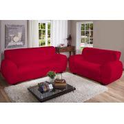 Capa Sofá Malha Dupla 2 E 3 Lug Vermelha | Jersey Bras