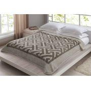 Cobertor Casal Axis/Bege Corttex Toque Macio e Antialergico