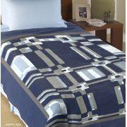 Cobertor Casal Delphi Azul Corttex Toque Macio e Antialérgico