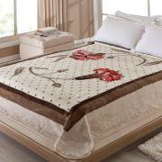 Cobertor Casal Inspiração Bege Antialérgico | Corttex