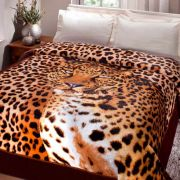 Cobertor Casal Jolitex Toque Macio e Antialergico Leopardo