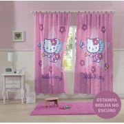 Cortina com alça Estampada 2 Peças Hello Kitty | Lepper