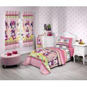 Cortina Infantil Minnie Flower 280x180 | Santista
