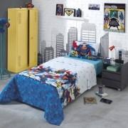 Jogo de cama Solteiro 100% Algodão Superman | Dohler