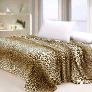Manta de Microfibra Animal Print Leopardo - Jolitex