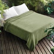 Manta Microfibra Dyuri Solteiro Verde 1,50 x 2,20m   Jolitex