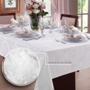 Toalha de mesa Retangular em Jacquard para 10 lugares   Admirare