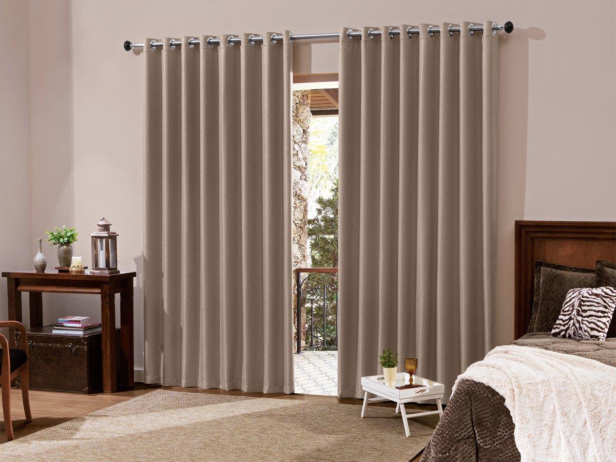 Cortina blackout sala quarto em tecido 2 00 x 1 80 bege for Couchtisch 1 00 x 1 00