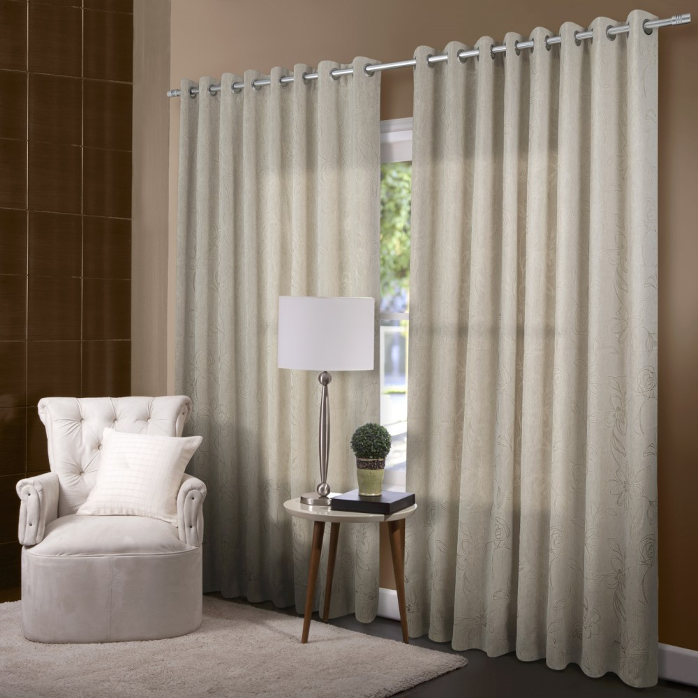 Cortina dupla devor 3 00 x 2 50 giardino jolitex for Ver modelos de cortinas