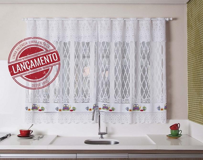 Cortina para janela de cozinha de renda 200x120 chaleira for Ecksofa 1 50 x 2 00