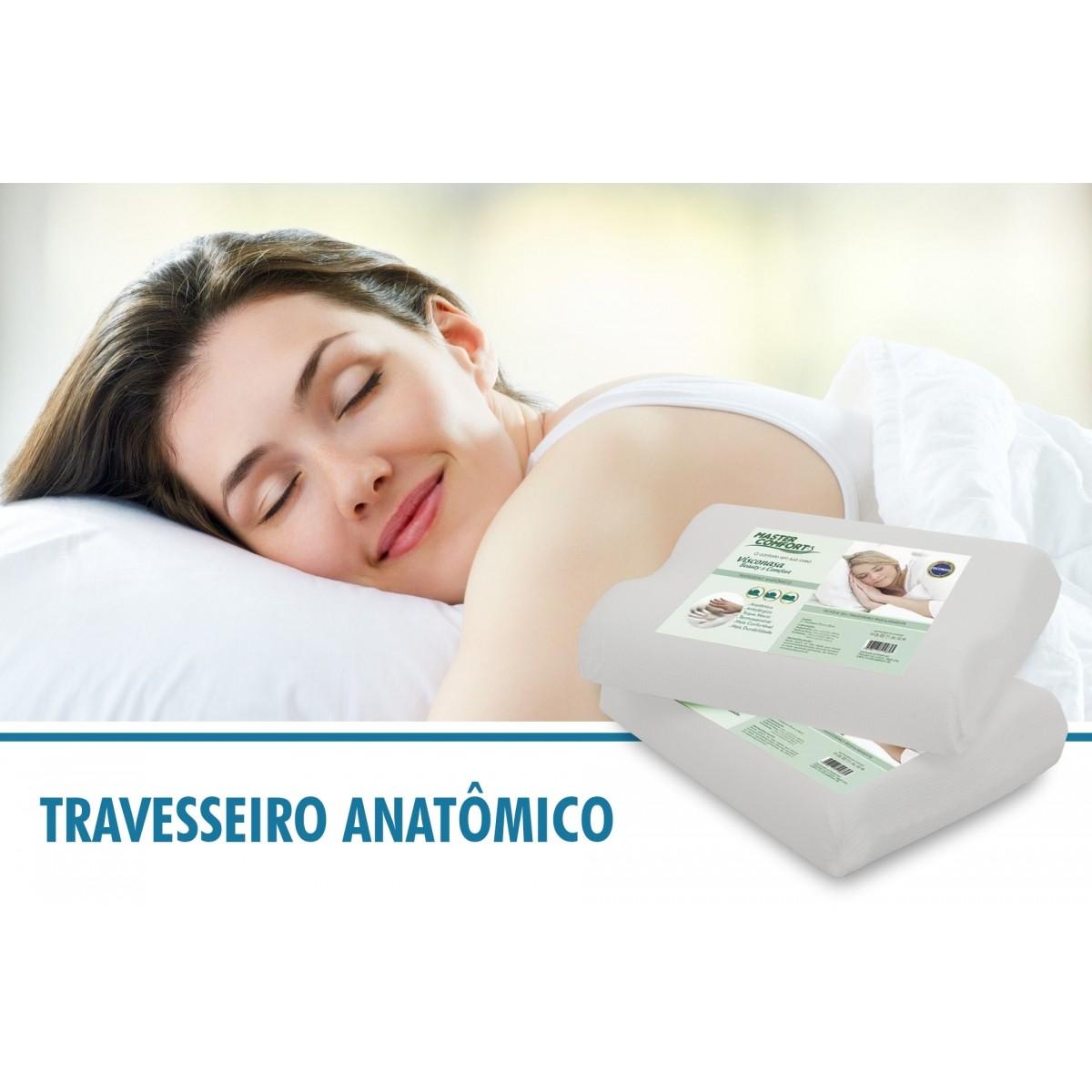 Kit 4 Travesseiros Anatômico Nasa Antialérgico