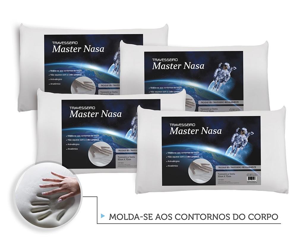 Kit Travesseiro Nasa 4 Pecas - Antialergico - Toque Macio