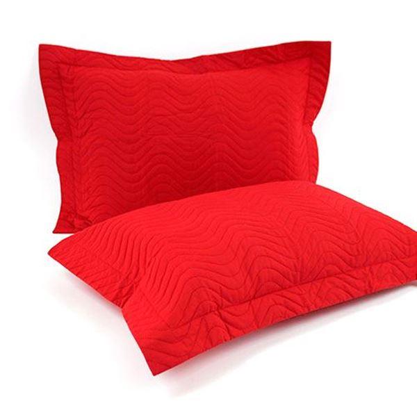 Porta Travesseiro Matelado Vermelho | Pano Bordado