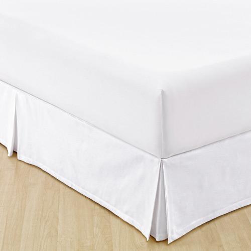 Saia Para Cama Box Solteiro Granite Branca   Sultan