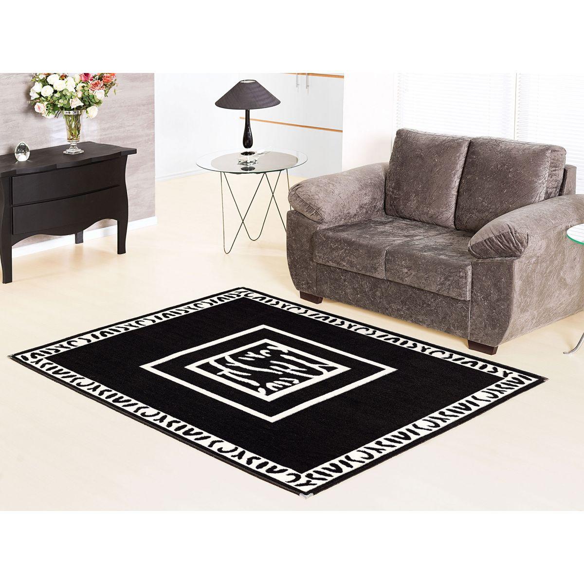 tapete de sala estampado 1 50x1 00 andino lancer a 37 preto. Black Bedroom Furniture Sets. Home Design Ideas