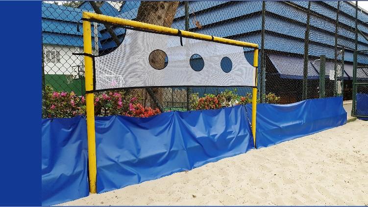 REDE PARA TREINO DE TIRO AO ALVO NO GOL - 300X70M GOL FUTSAL HANDBALL - Marca: Actual®  - Actualsports  Equipamentos Esportivos