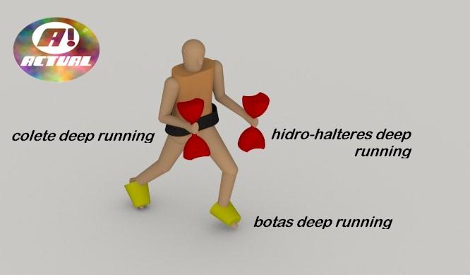 BOTA FLUTUANTE PARA DEEP RUNNING (PAR)  - Actualsports  Equipamentos Esportivos