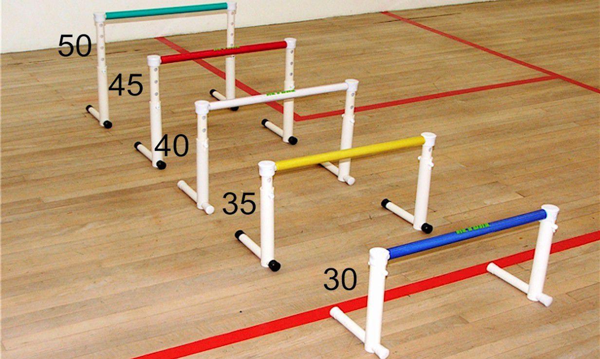 BARREIRAS DE PLIOMETRIA 30-50CM COM REGULAGEM DE ALTURA - UNIDADE  - Actualsports  Equipamentos Esportivos