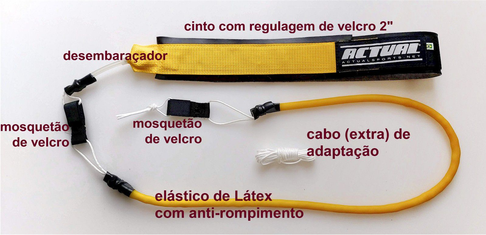 CINTO DE NATAÇÃO LATEX ACTUAL STANDARD - TREINO RESISTIDO  - Actualsports  Equipamentos Esportivos