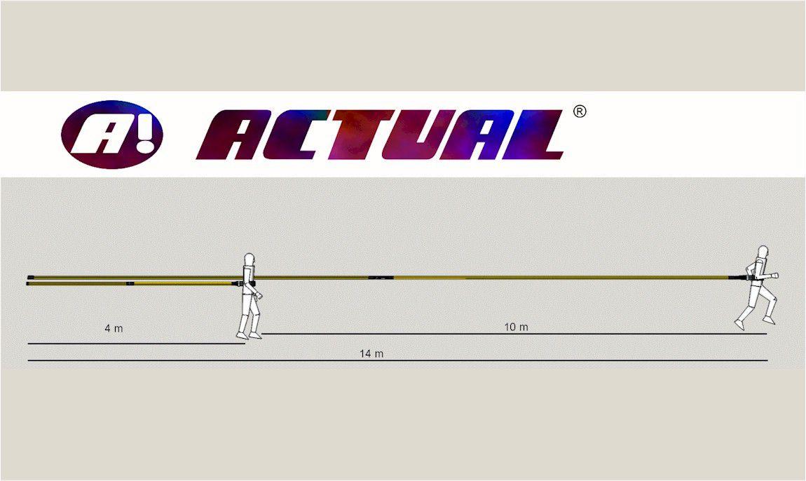 Cinto de Tração Profissional Individual de longo alcance  4x14   - Actualsports  Equipamentos Esportivos