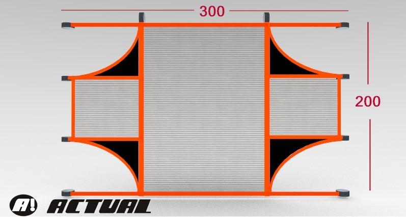 REDE PARA TREINO DE TIRO AO ALVO NO GOL - 300X200M GOL SALAO FULL - Marca: Actual®  - Actualsports  Equipamentos Esportivos