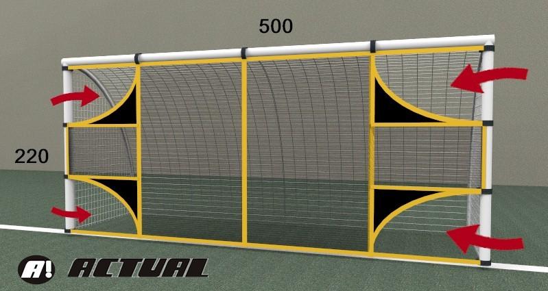 REDE PARA TREINO DE TIRO AO ALVO NO GOL - 500X220M GOL SOCIETY FULL - Marca: Actual®  - Actualsports  Equipamentos Esportivos