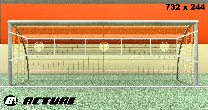 REDE PARA TREINO DE TIRO AO ALVO NO GOL MODELO FAIXA 700X70M GOL OFICIAL - Marca: Actual®  - Actualsports  Equipamentos Esportivos