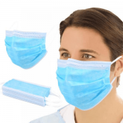 Máscara Descartável Tripla com Elástico 50 Unidades - IABER