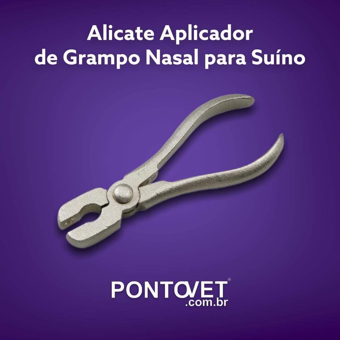 Alicate Aplicador de Grampo Nasal para Suíno