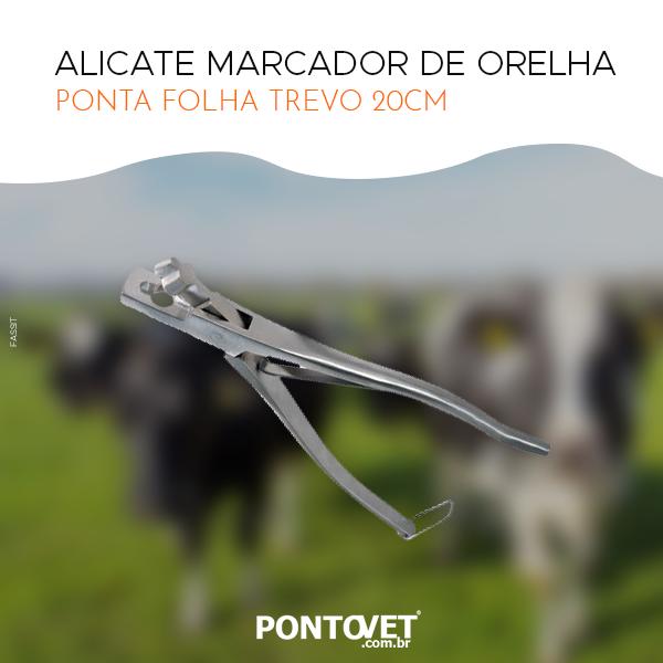 Alicate Marcador De Orelha (Ponta Folha Trevo) 20 cm