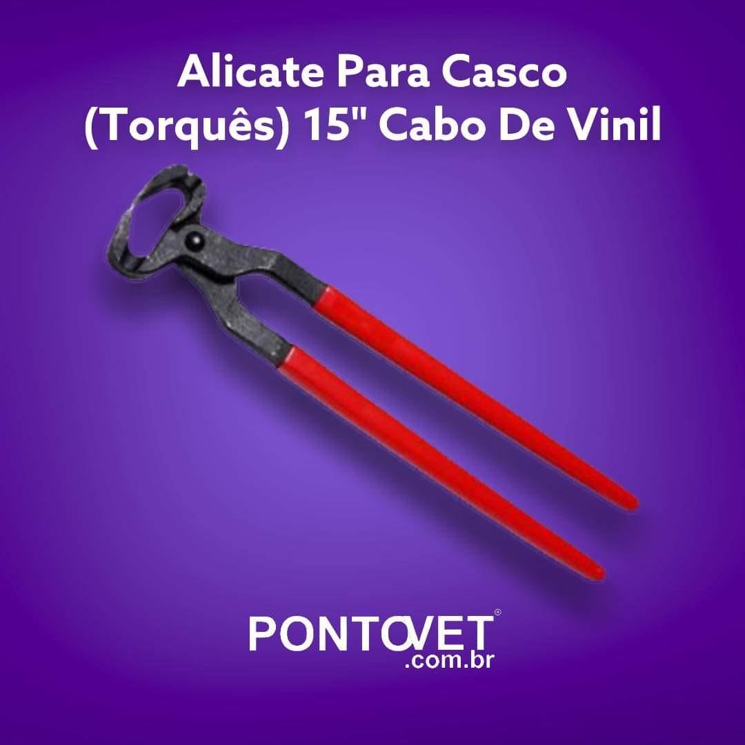"""Alicate Para Casco (Torquês) 15"""" Cabo De Vinil"""