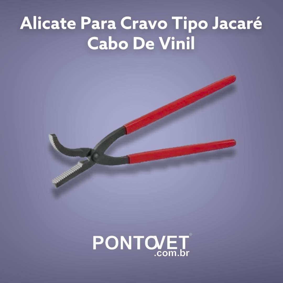 Alicate Para Cravo Tipo Jacare' Cabo De Vinil