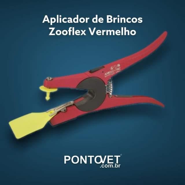 Aplicador de Brincos Zooflex Vermelho