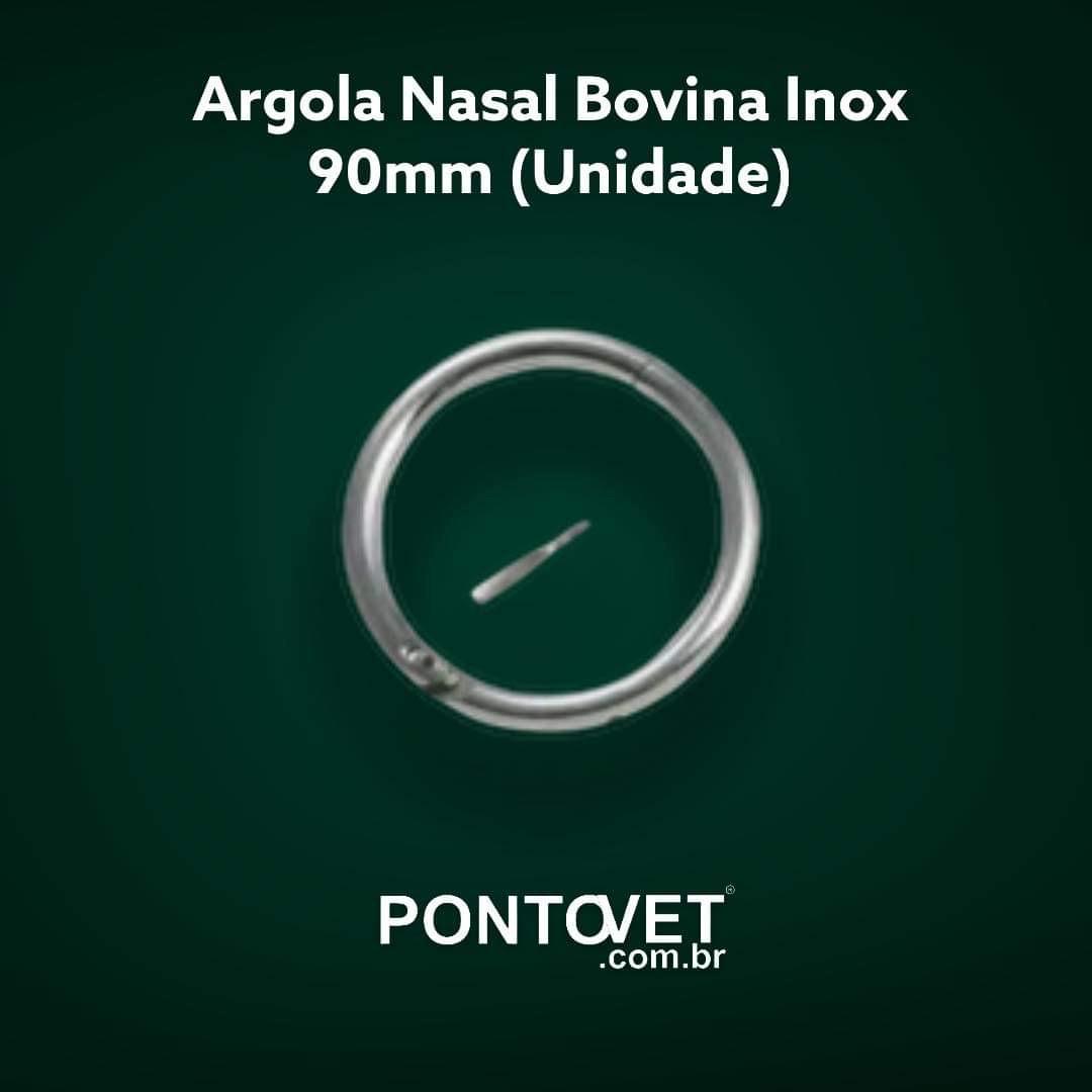 Argola Nasal Bovina Inox 90mm  (Unidade)