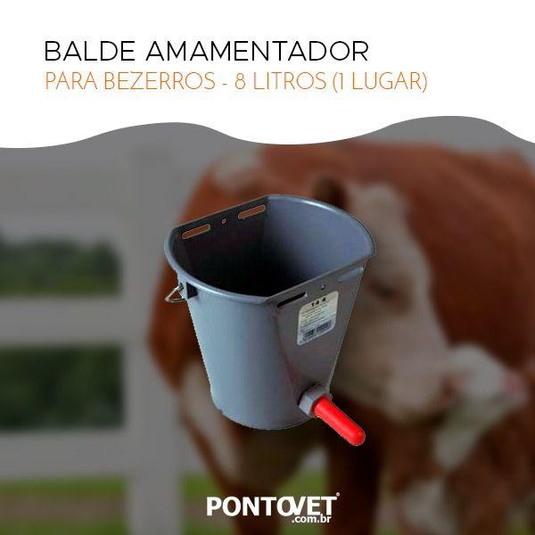 BALDE AMAMENTADOR P/ BEZERROS - 8 LITROS  (1 LUGAR)