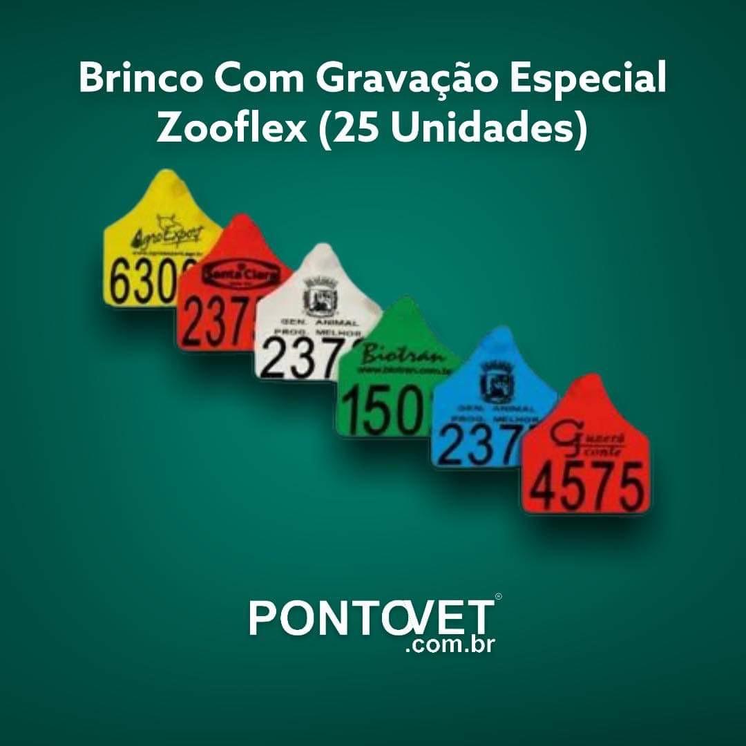 Brinco Com Gravação Especial Grande Zooflex (25 Unidades)