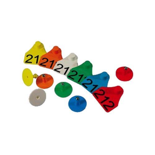 Brinco Numerado Pequeno Zooflex (25 Unidades)