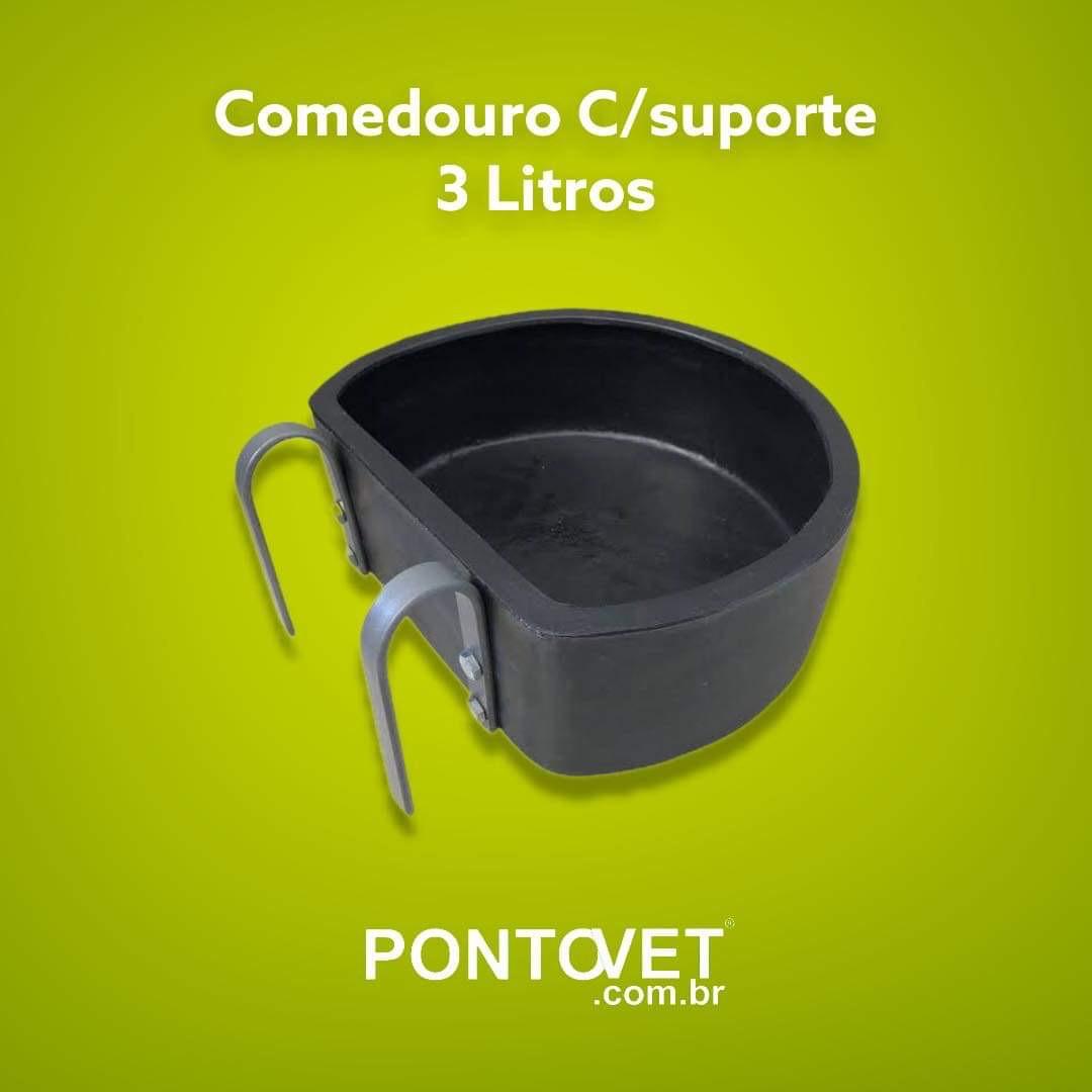 Comedouro C/suporte 3 Litros