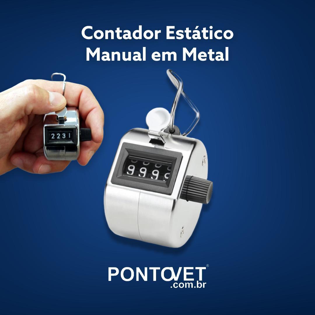 Contador Estático Manual em Metal
