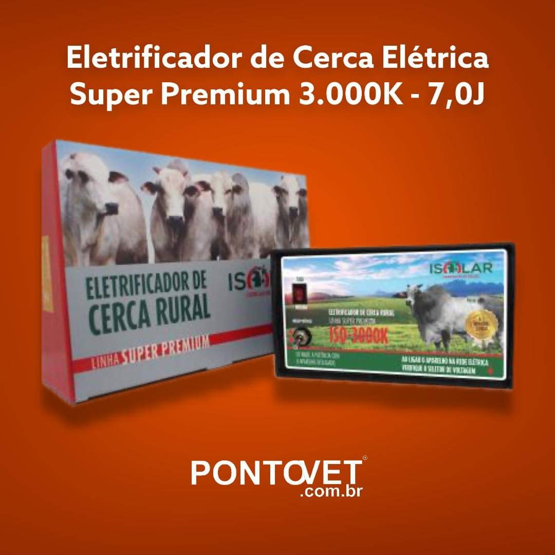 Eletrificador Cerca Super Premium 3.000K - 7,0J