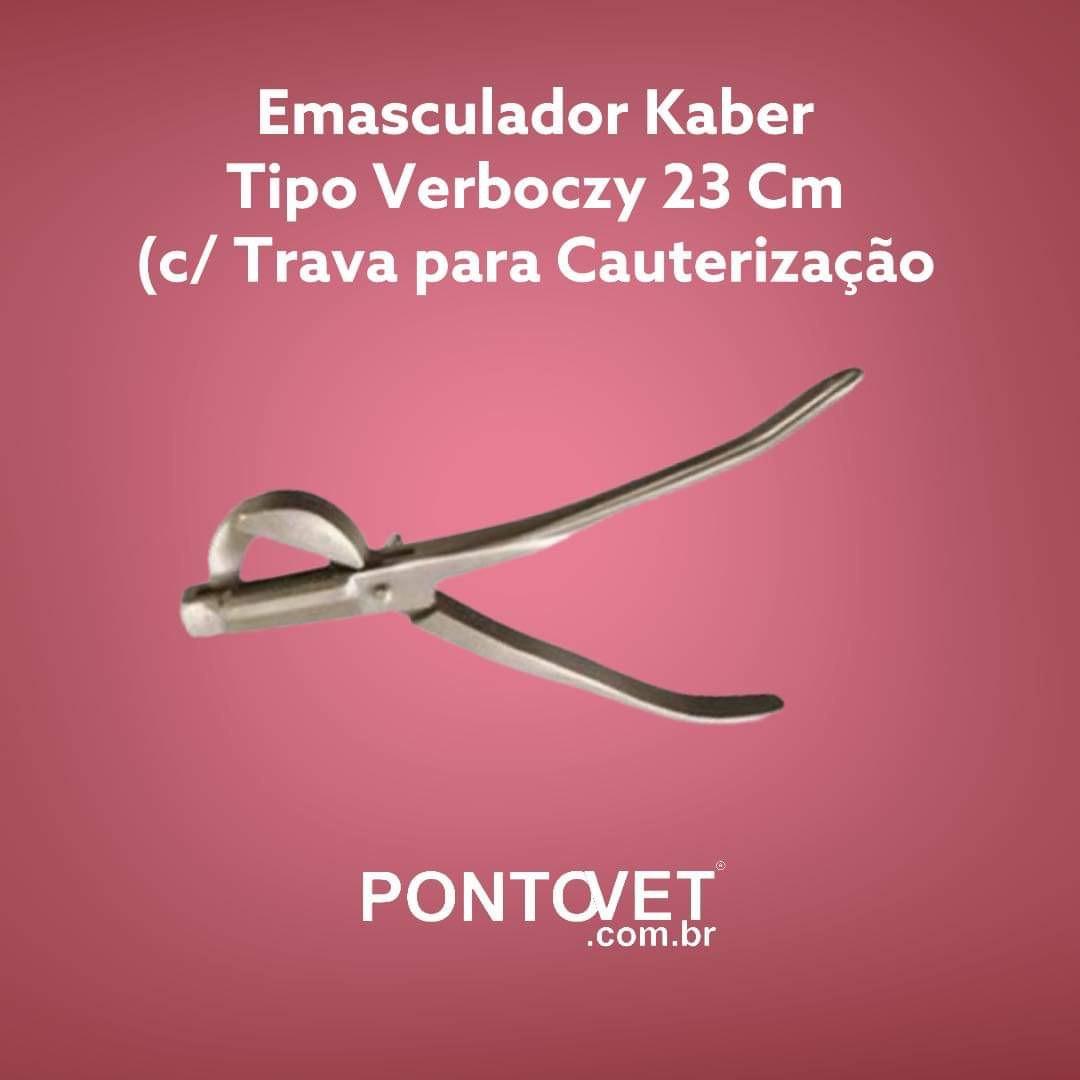 Emasculador Kaber Tipo Verboczy 23 Cm (c/ Trava para Cauterização)