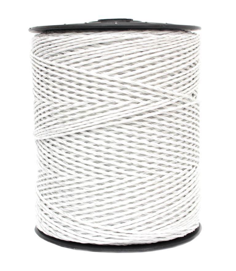 Fio Cordoalha Eletroplástico 3mm Aço Inox 500m Branco